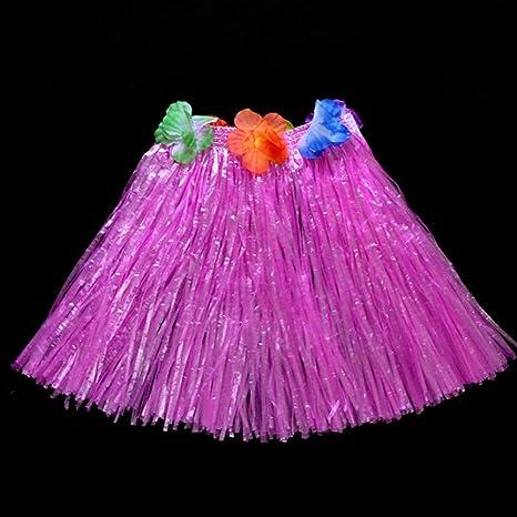 Nordira Falda para niños y niñas, falda hawaiana de hula de hierba ...