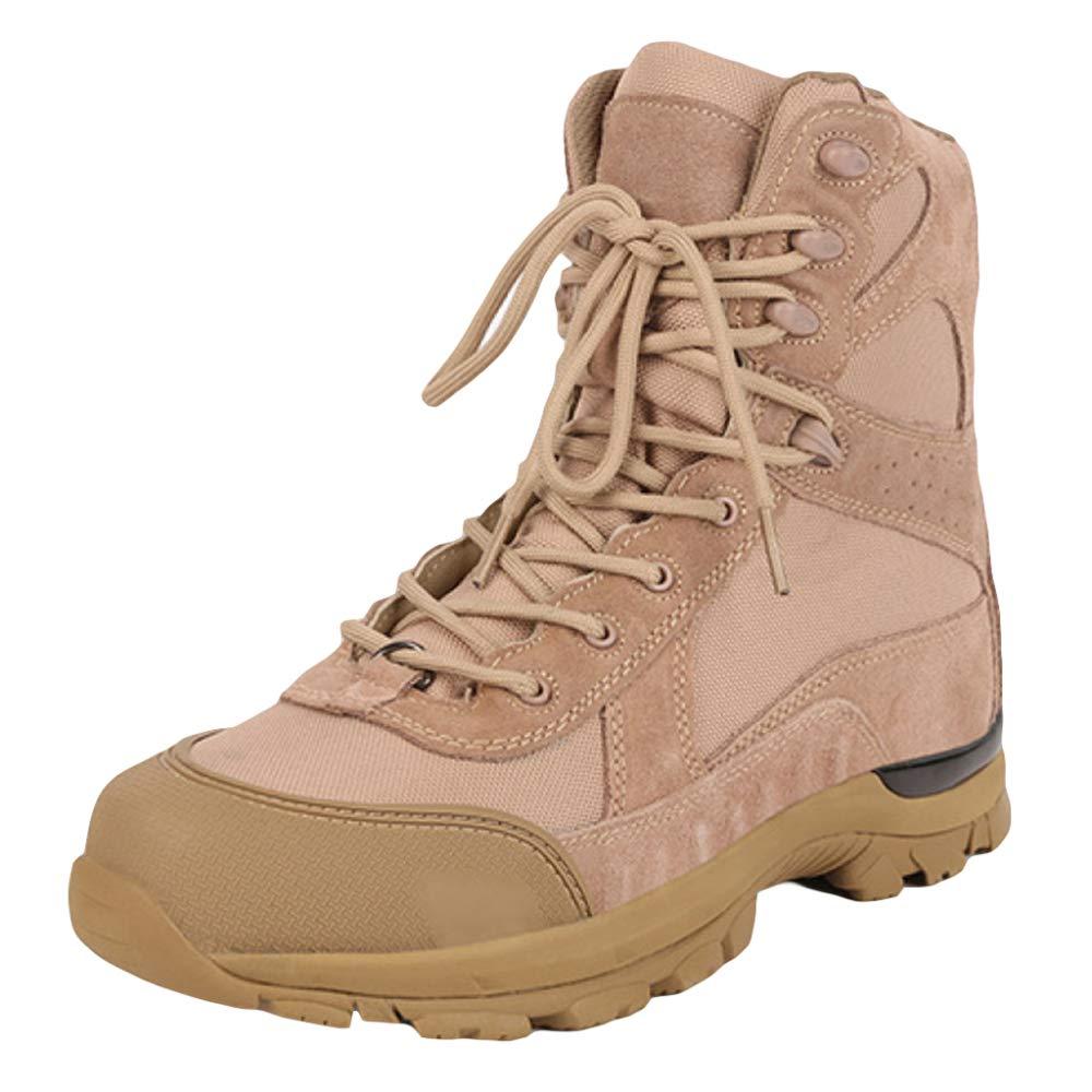 Souy Lace Ups Armee Kampfstiefel Für Herren Militärische Militärische Militärische Wüste Tactical Stiefel High Top Stiefelies Spezialeinheiten Patrol Stiefel Camping Klettern Wanderschuhe 5b77cb