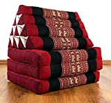Asia Wohnstudio 3 Fold With Extra Large Triangle Cushion, 100% Natural Kapok Filling, Xxl Jumbo Thai Pillow, Headrest (Thai Cushion Seat Folds) Folds