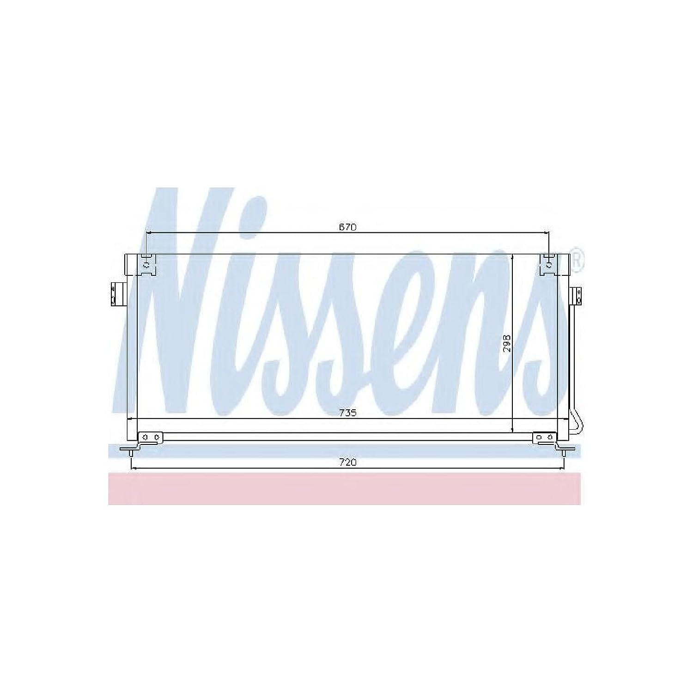 Nissens 94507 Condenser, air conditioning