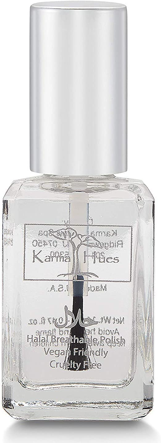 Karma Halal Certified Nail Polish- Truly Breathable Cruelty Free and Vegan - Oxygen Permeable Wudu Friendly Nail Enamel (Breathable Top Coat - ANASTASIA)