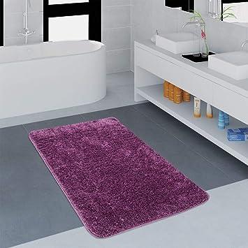 Cucina Moderna Lilla.Tappeto Bagno Moderno Monocolore Microfibra Soffice Confortevole Lilla Dimensione 50x80 Cm