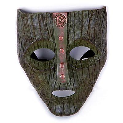 Gmasking 2020 Resin Loki Cosplay Mask Prop Replica+Gmask Keychain: Toys & Games