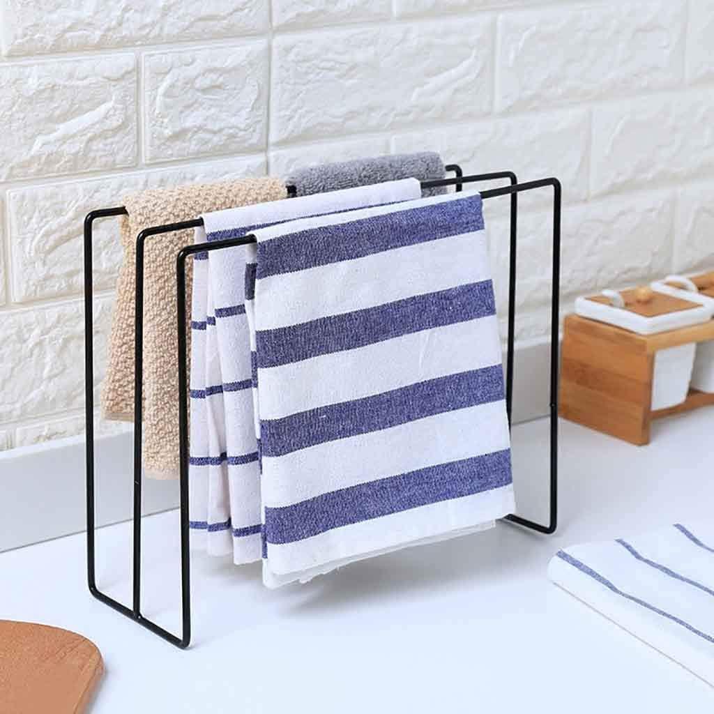 Cloth Rack Stand Iron Towel Shelf Washing Kitchen Organizer 28.5*10*23cm Durable