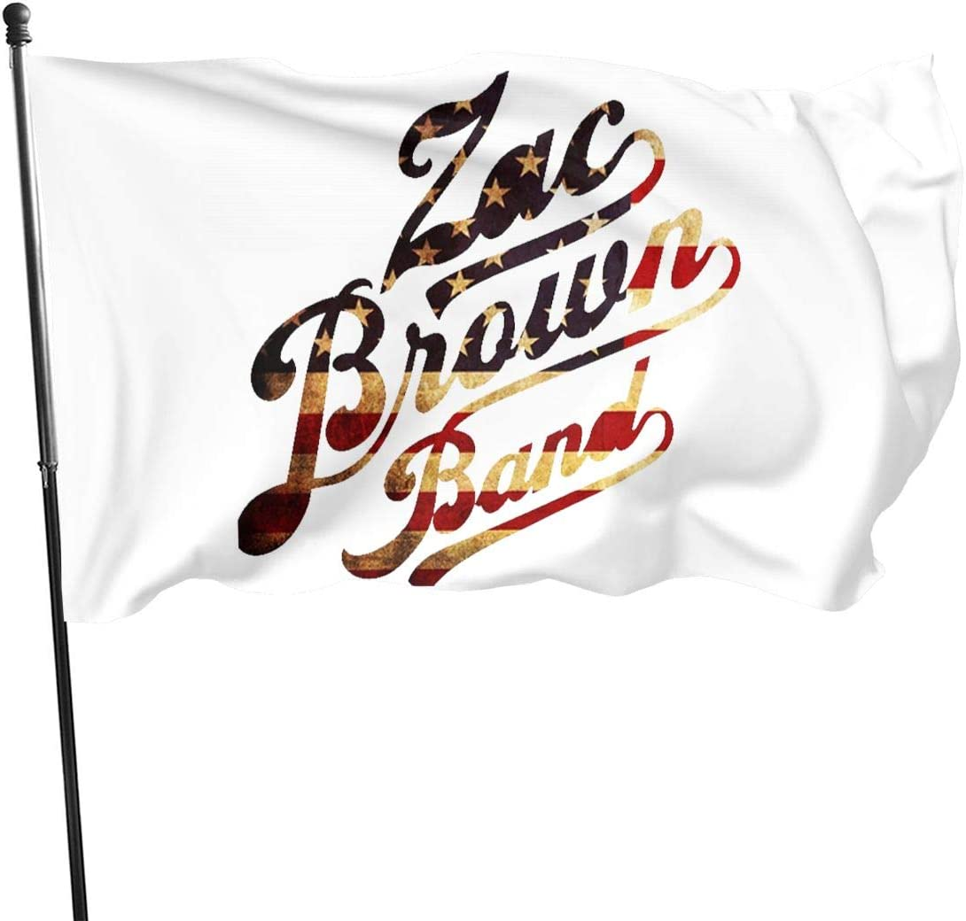 PeterLLowery Zac Brown Band Fashion Garden Flag Home House Yard Lawn Patio Banner Welcome Decorative Flag 3x5 Ft