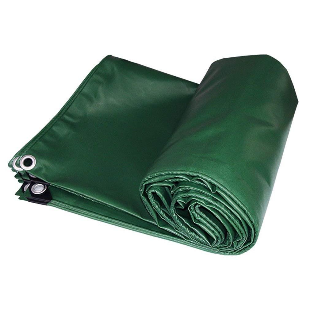 Tela Cerata Resistente Multiuso verde Impermeabile Antipioggia - Impermeabile e Resistente ai Raggi UV, Spessore 0,4 mm, 550 g m² FENGMING (colore   verde, Dimensioni   5MX5M)