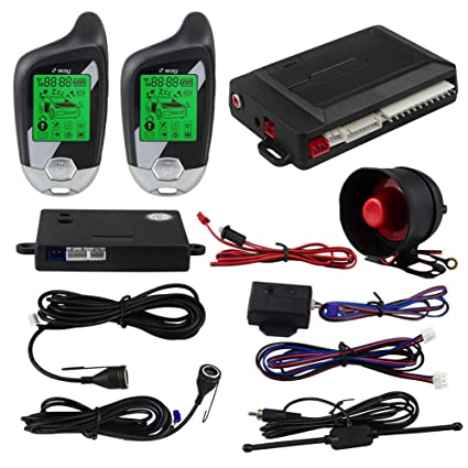 Amazon com: EASYGUARD 2 Way car Alarm System EC203 with LCD Pager