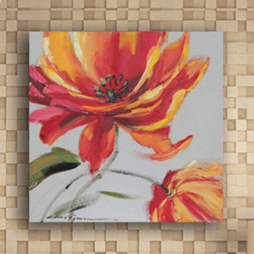 Fresh Look Color Amarillo flor 1 Pieza pintura del arte mural decorativa pintura sin marco aceite Para pintada a mano de la decoración de la decoración moderna casera para la pintura de arte de la sala pared del aceite,B_23.523.5in1pc