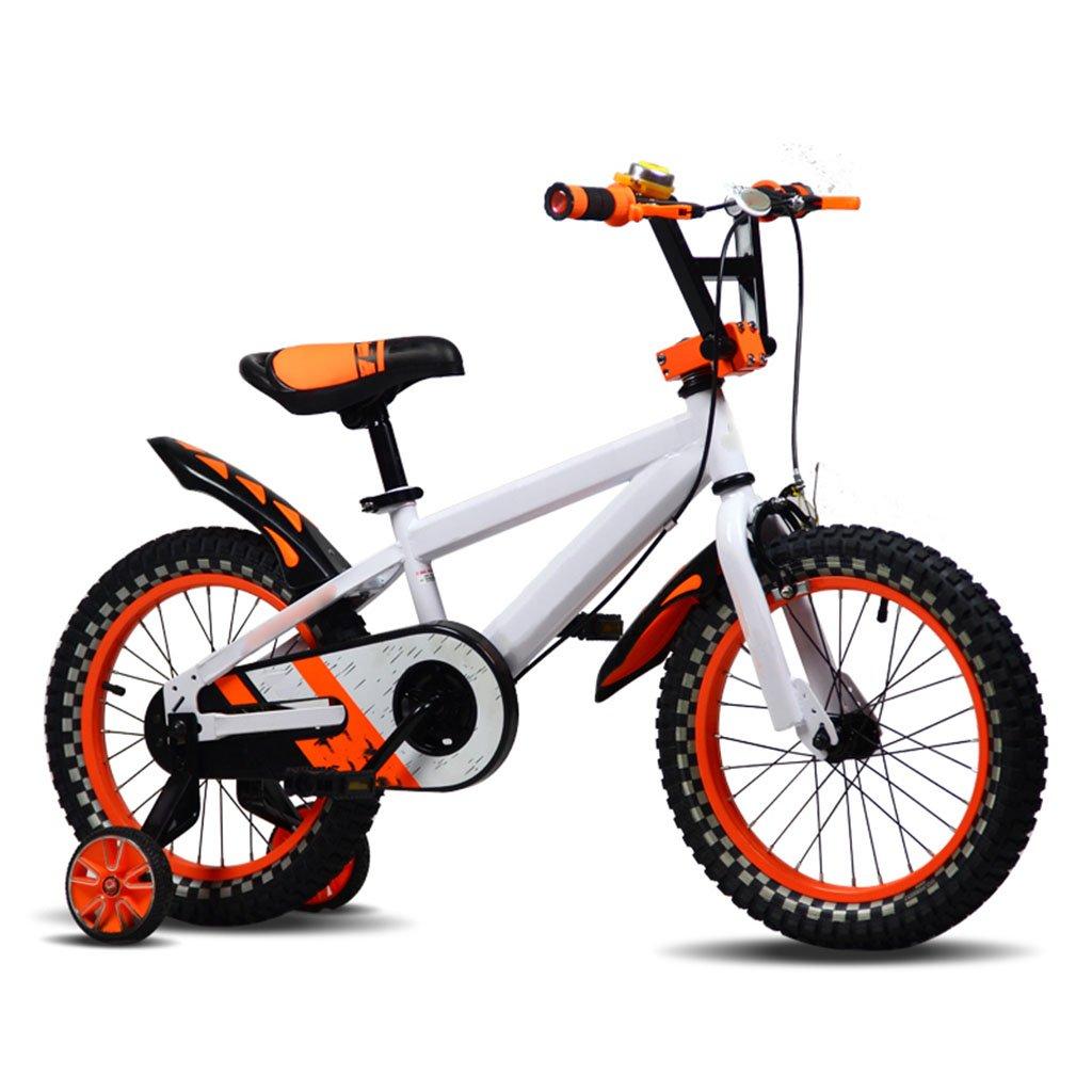 CGN子供の自転車、子供の学生のシングルスピードのベビーベビーキャリッジ自転車 soft B07C5L17KS オレンジ オレンジ