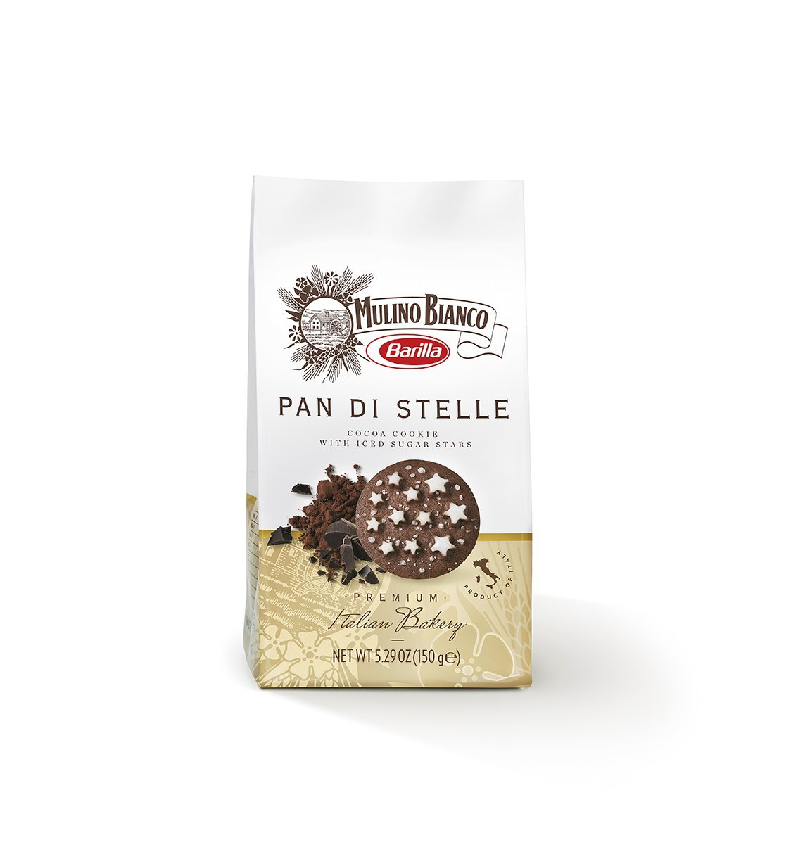 Mulino Bianco Pan di Stelle Cookies, 5.29 Ounce (Pack of 10)