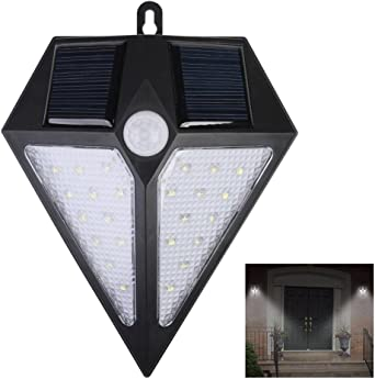 Foco Solar 24 LED,Lámparas Solares de Pared Impermeable,Luz de ...