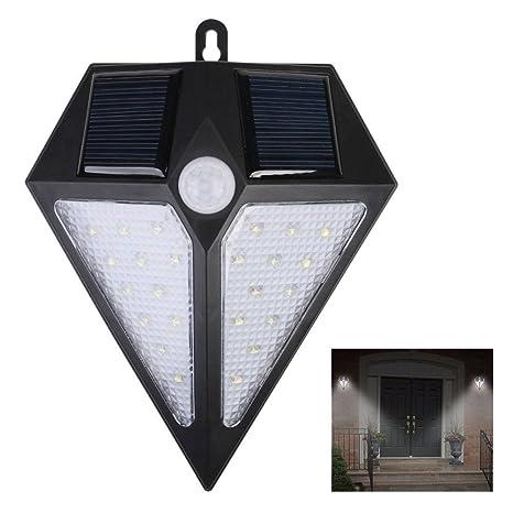 Impermeable luz Led De lámparas Solares Pared Foco Solar 24 kXnwOP80
