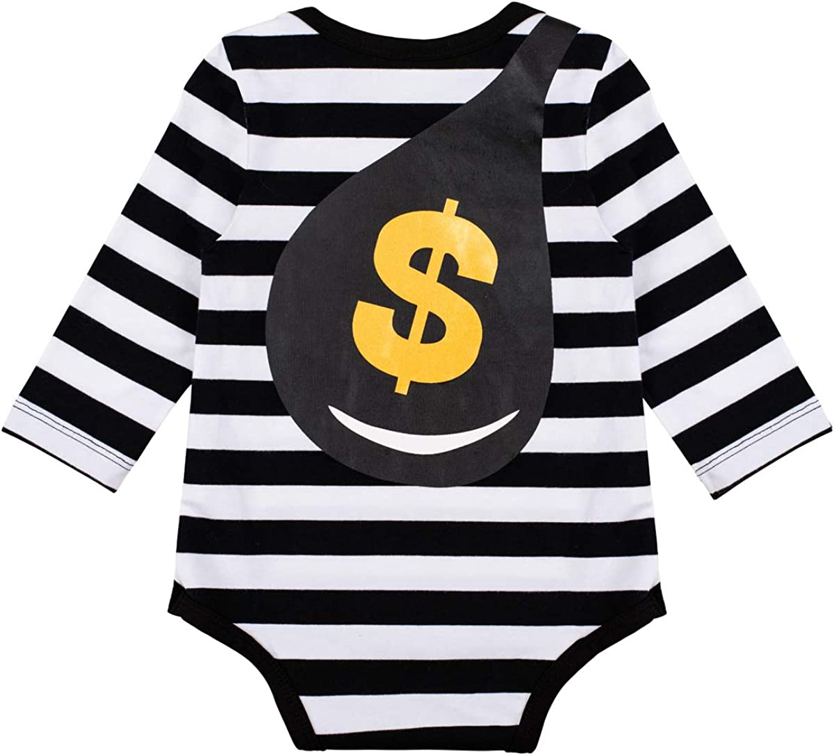 Baby Boys My First Halloween Pirate Costume Outfit Long Sleeve Buccaneer Romper with Hat