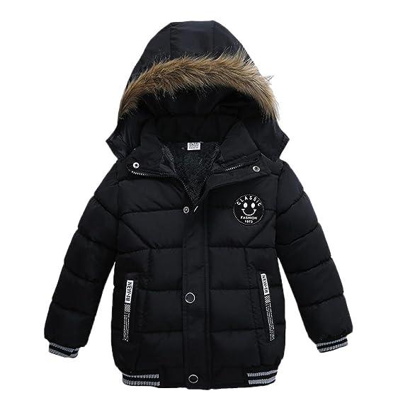 Amazon.com: Vibola Fashion Kids Coat Boys Girls Thick Coat Padded ...