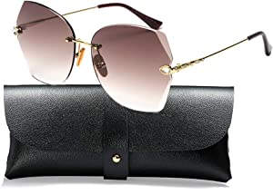 SOSUSHOE Sunglasses For Women Oversized Rimless Diamond… Sweepstakes