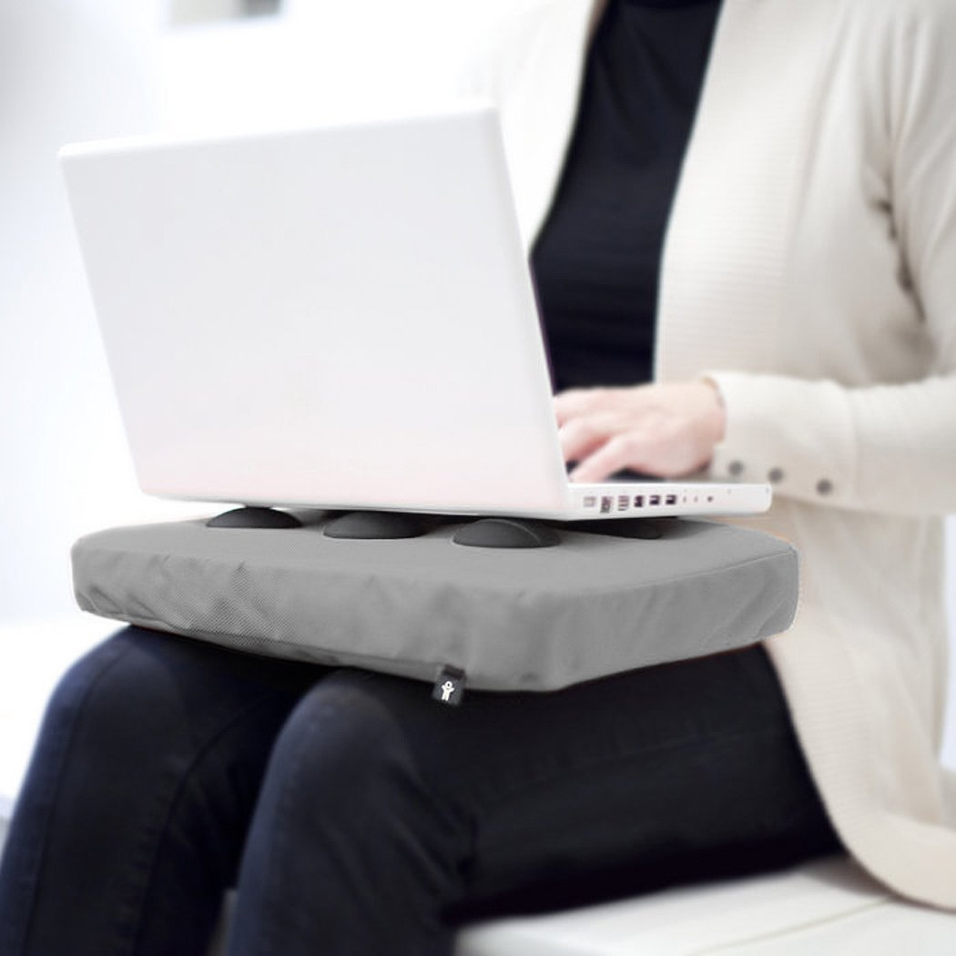 Bosign Surfpillow Hitech Shapeable Cushioned Laptop Lapbag, Silver by Bosign (Image #4)