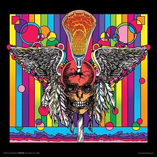 Howie Green Lacross Skull Decorative Psychedelic Pop Modern Sports Art Poster Print Unframed
