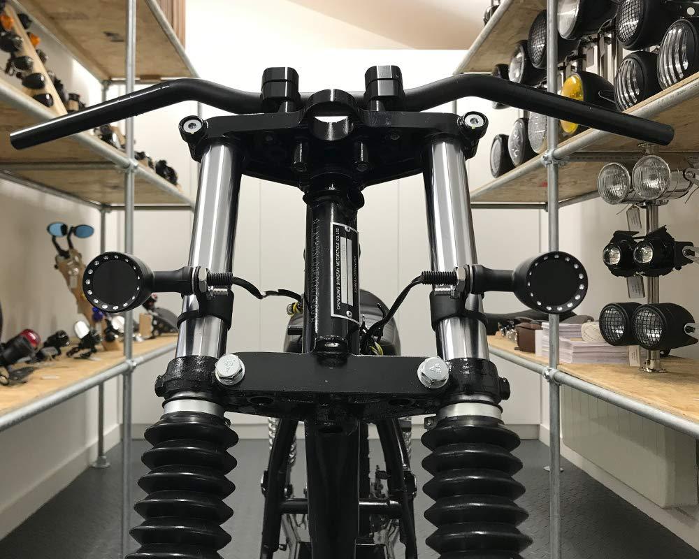 Moto Indicadores LED Frente Integrado Luces de Conducci/ón DRL para Custom Retro Project