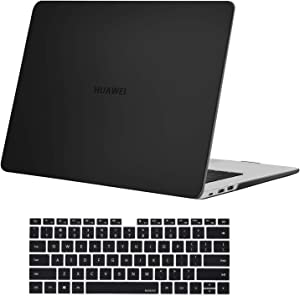 MOSISO Case Only Compatible with Huawei MateBook D 14 inch 2020 2019 Release, Protective Plastic Hard Shell Case & Keyboard Cover Skin, Black