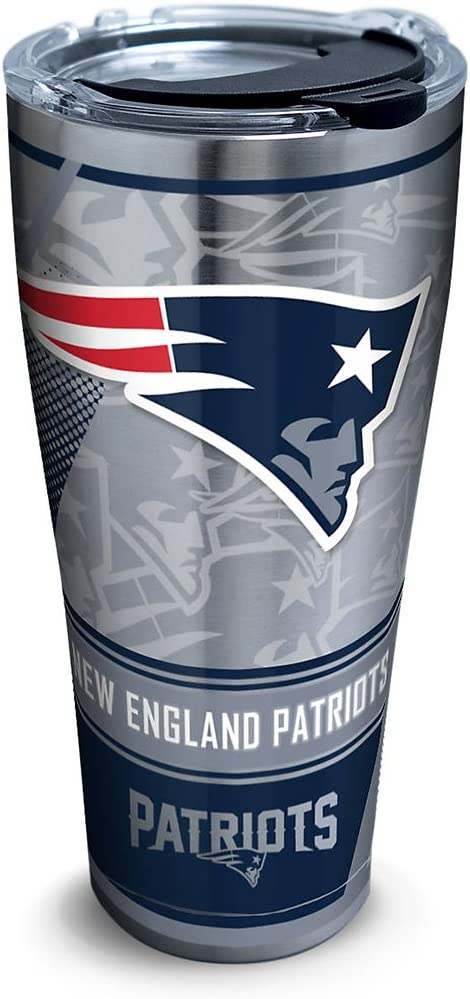 Amazon Com Tervis 1266665 Nfl New England Patriots Edge Stainless Steel Tumbler With Clear And Black Hammer Lid 30oz Silver Kitchen Dining