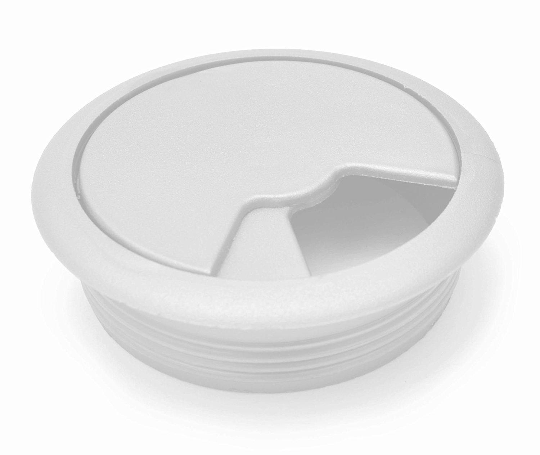 Tapon pasacables para mueble de sala, escritorio plástico blanco 80mm: Amazon.es: Bricolaje y herramientas