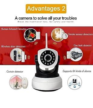 Alta resolución de 1080p, sensor de vigilancia de seguridad inalámbrica con tarjeta SIM, visión