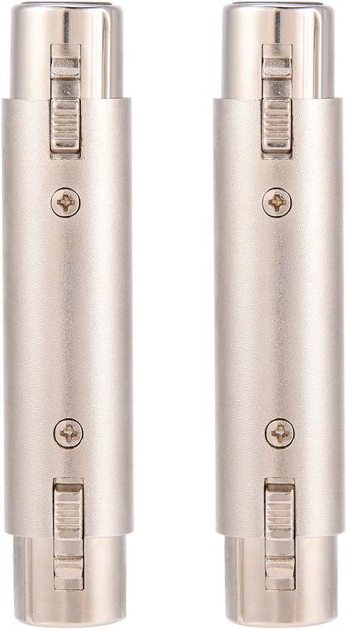 2Pcs XLR Microphone Mic Adapter Gender Changer Pomya 3-Pin XLR Female to Female Audio Connector