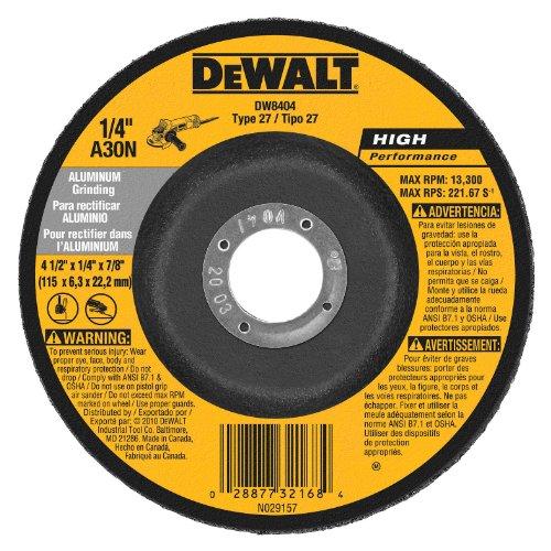 DEWALT DW8404 4-1/2-Inch by 1/4-Inch by 7/8-Inch Aluminum Grinding Wheel (25-Pack) Dewalt Aluminum Grinding Wheel