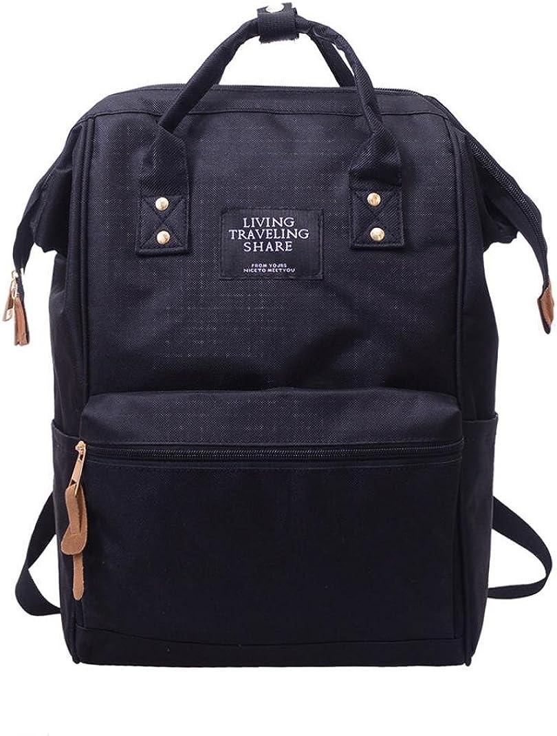 Fashion Laptop Backpack Waterproof Nylon Unisex Rucksack School College Bookbag Travel Bag Shoulder Purse