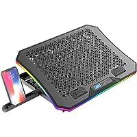 """Base Para Notebook C3Tech NBC-600BK ate 17"""" Gamer - Refrigerada com 6 ventuinhas Display LCD 2USB RGB, para notebook de…"""
