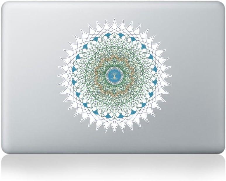Optic Tree of Life Mandala Vinyl MacBook Sticker/Laptop Sticker - Fits MacBook Air (11/13), MacBook Pro (13/15), MacBook Pro Retina (13/15) and MacBook Retina (12)