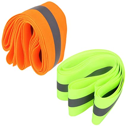 Pets Walking Safety Bands,Visibility Bike Reflector Tape Running Jogging Wristbands Belt Armbands Ankle Straps Spoke Reflectors Bicycle MepLife Bicycle Snap Reflective Night Band,Loop Hook