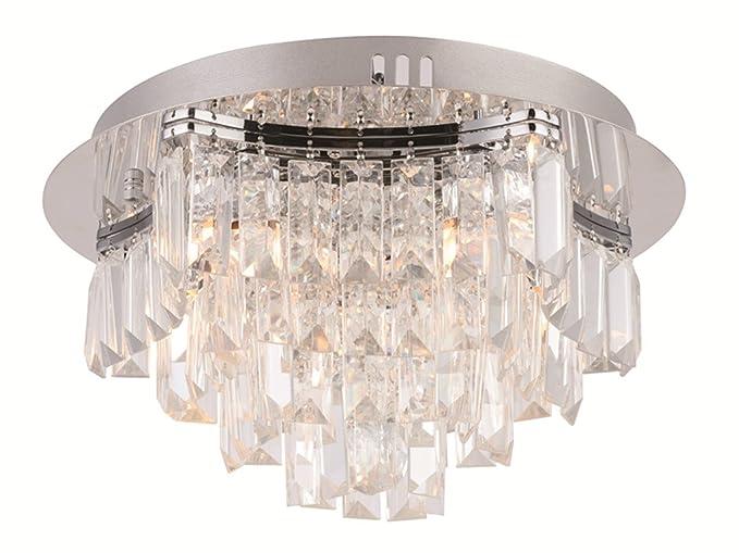 Plafoniere In Cristallo A Soffitto : Argento cromo lucido volte piombo caduta di pioggia lampade
