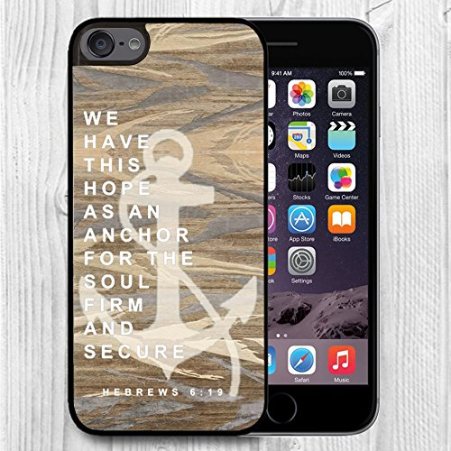for iPod Touch Case,iPod 6 Black Case, FTFCASE Case TPU Rubber Gel Design for Apple iPod Touch 6th Generation - Christian Quotes Hebrews 6:19