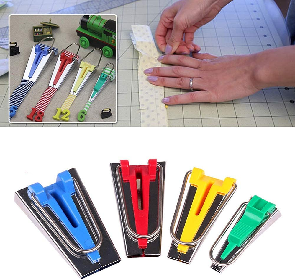 RMISODO 8 Pieces Bias Tape Maker Fabric Bias Binding Maker Tool for DIY Sewing Crafting Quilting 6mm 12mm 18mm 25mm