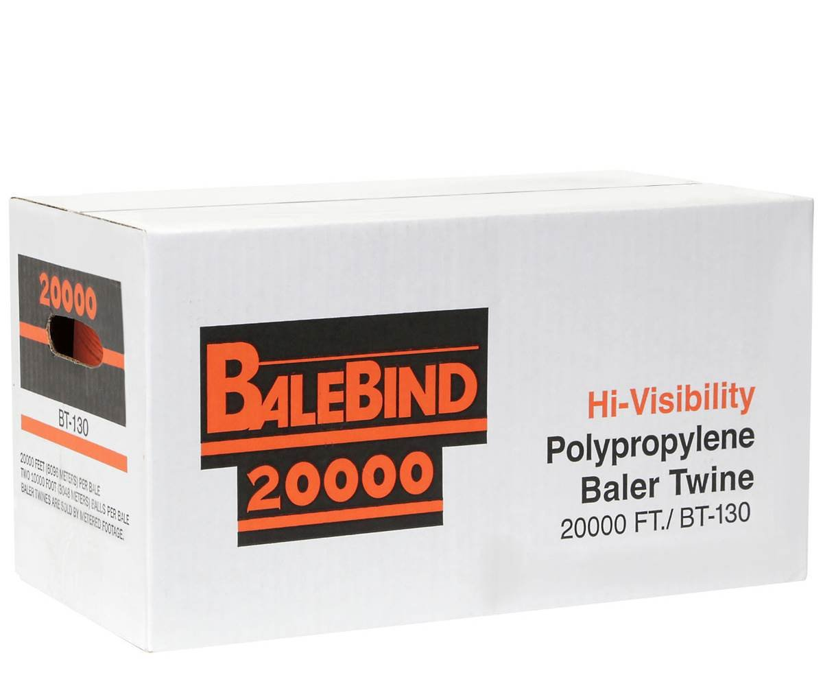 BaleBind Ultima Baler Twine - Weather Resistant Strong Thick Tie - 20,000 Ft. Long130 lb Knot Strength Orange