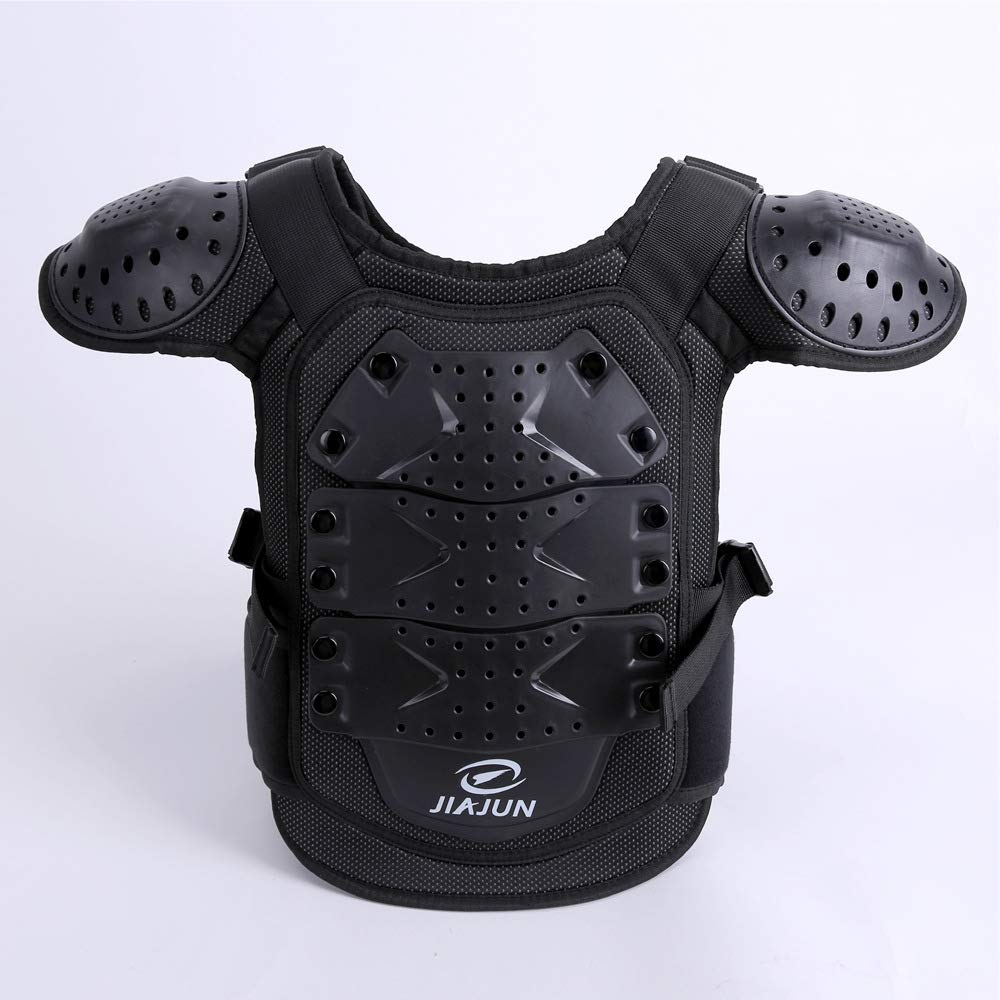 Children's Sports Protective Vest high Strength PE Sports Protective Equipment (Black, M) by Shindn (Image #4)