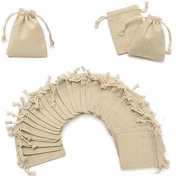 Bolsas de arpillera, 50 bolsas de yute para boda, bolsas de ...