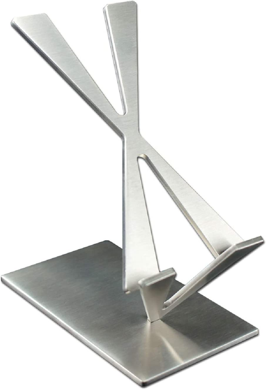 ArtsOnDesk Modern Art Desk iPhone Stand St204 Stainless Steel Satin Finish Patent Registered -- Especially Designed for Typing Compatible with all iPhones Google Pixel Samsung Mobile Ipad Perfect Gift