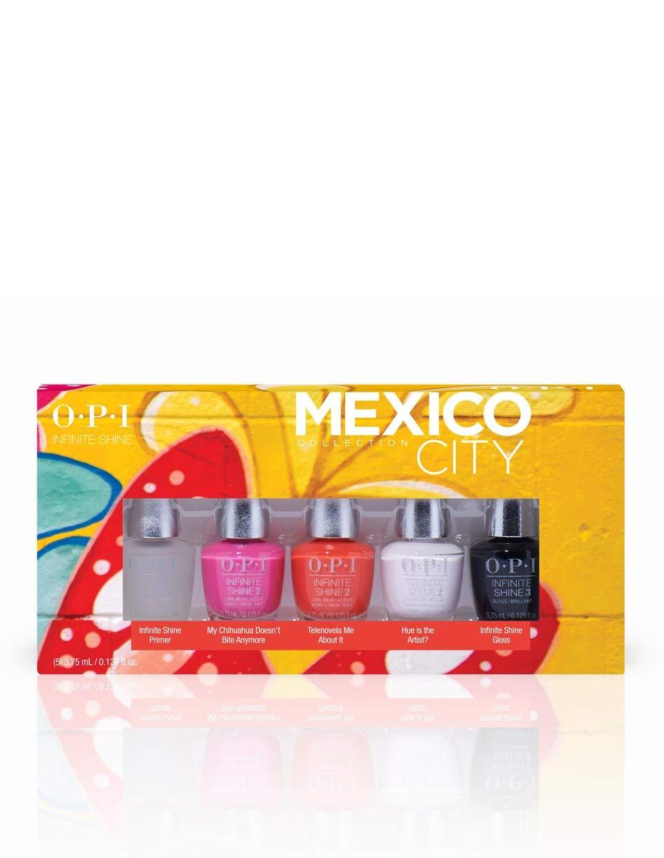 OPI OPI Nail Polish Mexico City Collection, Gift Set, Infinite Shine 5pc Mini-Pack, 0.125 Fl oz. each, 0.625 fl. oz.