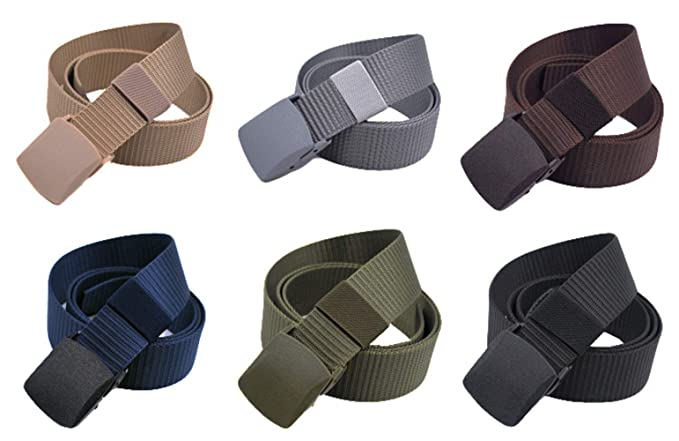 MENDENG Nylon Military Tactical Belt Canvas Outdoor Webbing With Plastic Buckle