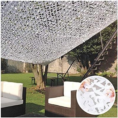 Red de Sombra Malla de Camuflaje Blanca Malla Sombra Red de jardín ...