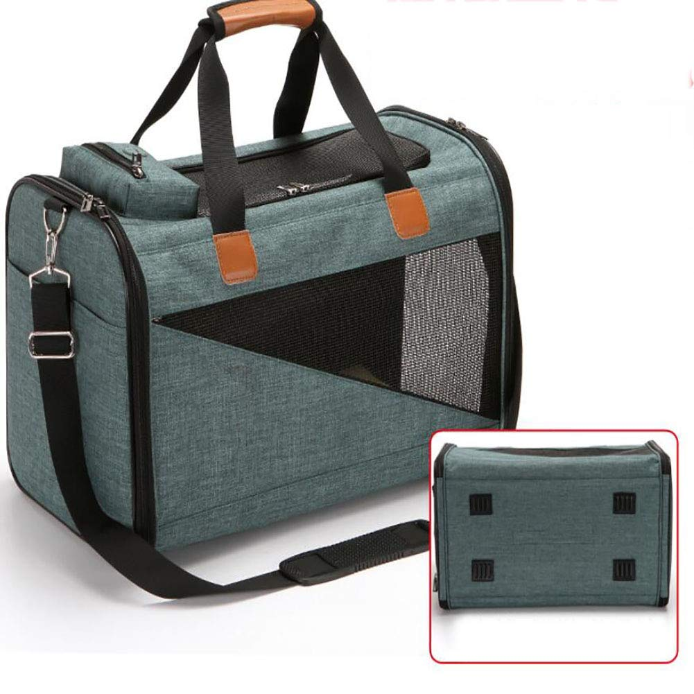 M LOHUA Pet Travel Carrier Soft Sided Portable Bag for Cats Kittens or Puppies, Collapsible, Durable, Airline Approved, Travel Friendly, Carry Your Pet with You Safely and Comfortably