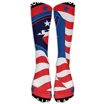 aa85c26aeb Amazon.com: Cropped Rogue Patriots Logo Compression Socks Football Socks  Sports Stockings Long Socks High Socks: Sports & Outdoors