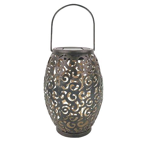 Lámpara solar LED para colgar con diseño de apertura, lámpara de ...