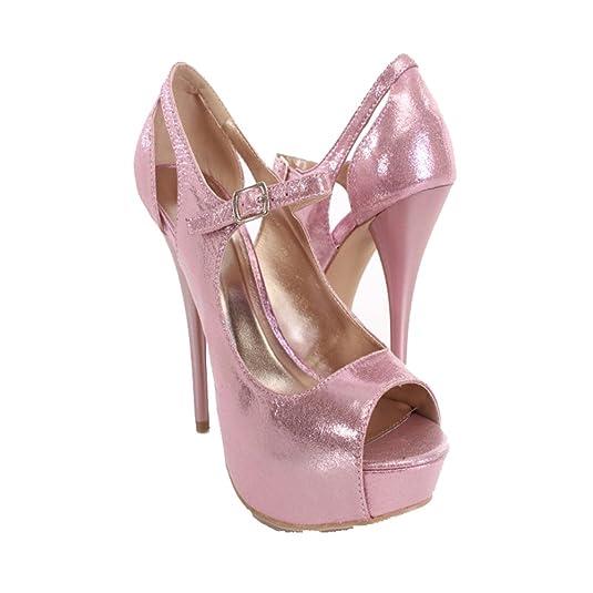 e9d351878fdc4 Amazon.com | Qupid Open Toe Marry Jane Dress/prom Pumps Qudazzling ...