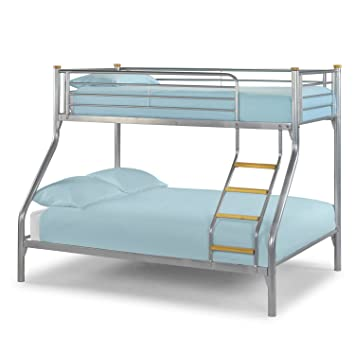 Triple Sleeper Bunk Bed Frame 4ft6 Double On Bottom And 3ft Single