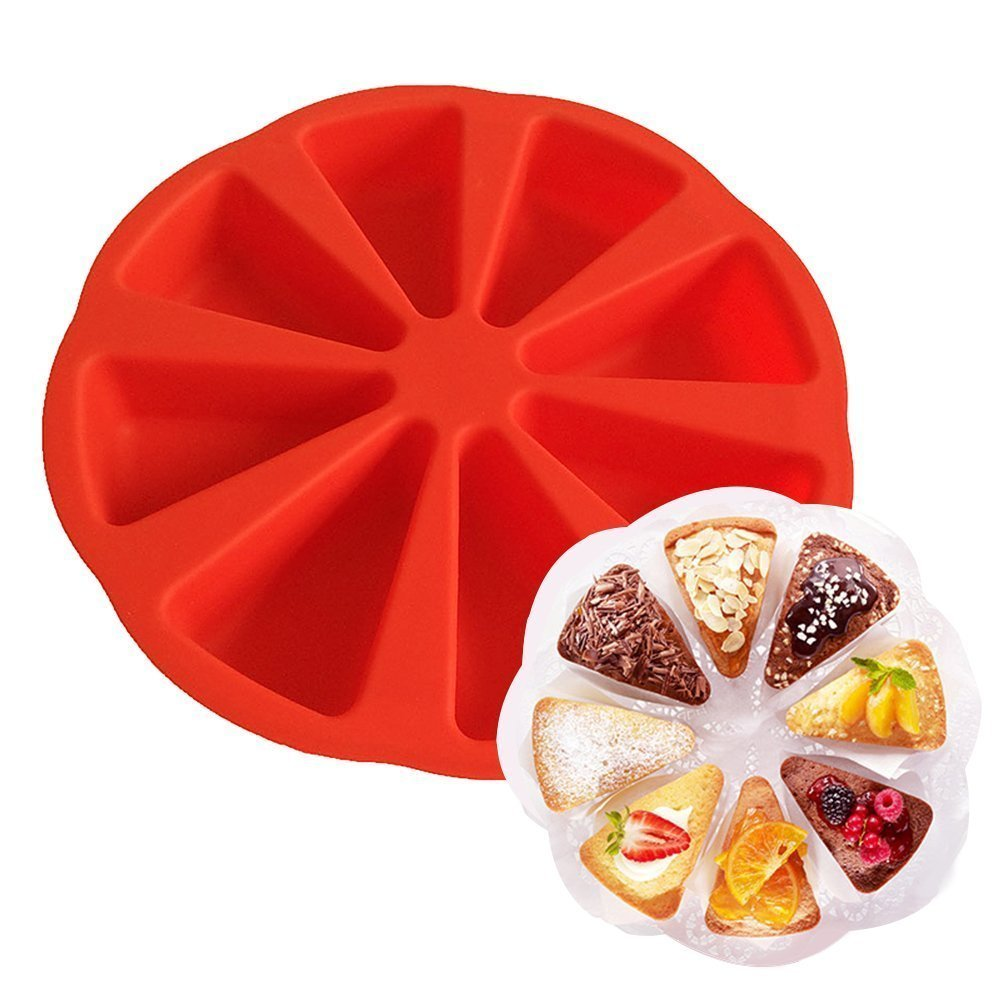 Hangnuo 8 Triangle Cavity Silicone Cake Portion Mould DIY Baking Molds Soap Mold COMIN18JU074054