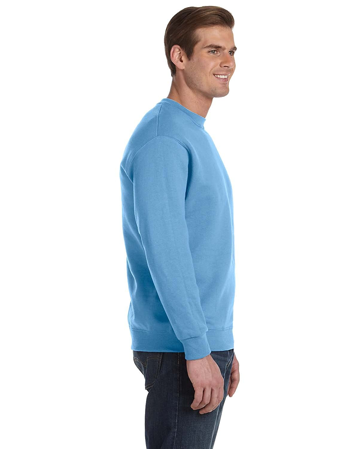DryBlend? 50//50 Fleece Crew -Carolina B -L-12PK G120 Gildan Mens 9.3 oz