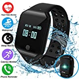 Sport Fitness Tracker Smart Watch Phone for Men Women Kids Prime Deals-IP67 Waterproof Heart Rate HR Monitor Blood Pressure Sleep Monitor Pedometer Smart Wristband for Run Swim Outdoor Holiday